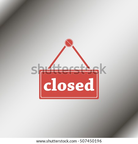 Flat web icon. Closed