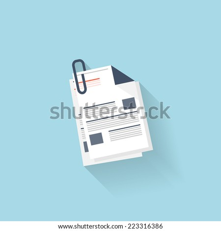 Flat web icon. News, blank. - stock vector