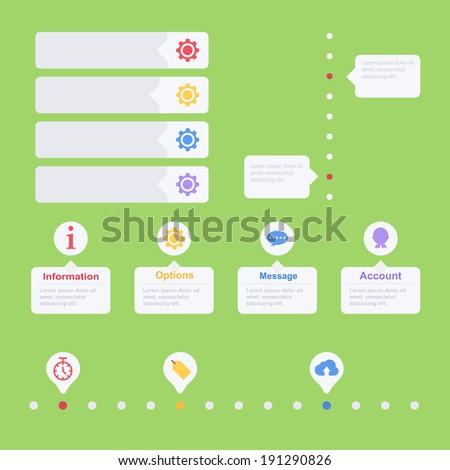 Flat web UI. Vector elements - stock vector