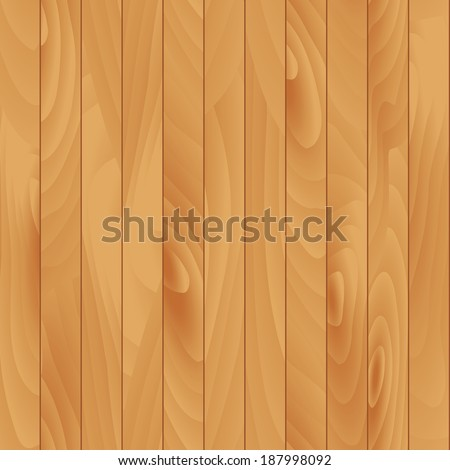 Flat Wood Texture. Vector Seamless Illustration - stock vector
