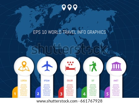 Flat world map country names divided stock vector 661767928 flat world map country names divided into editable contours of countries info graphic gumiabroncs