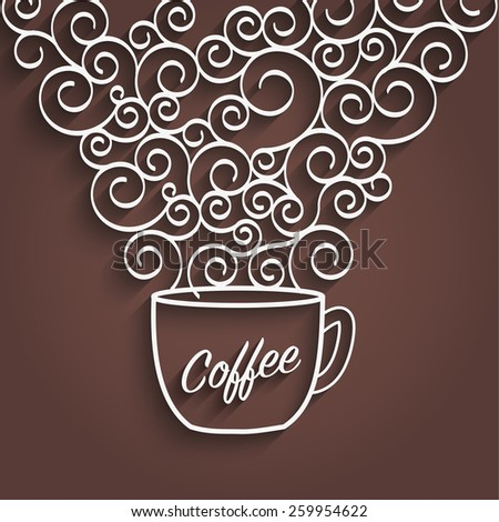 Flavored coffee poster background - stock vector