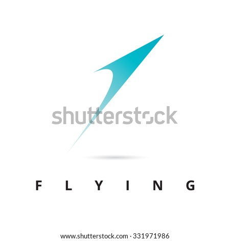 Flaying Icon Logo Template - stock vector