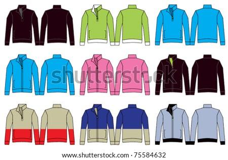 Fleece Jacket Illustrations - stock vector