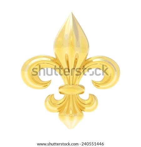Fleur de lis.  3d illustration isolated on white - stock vector