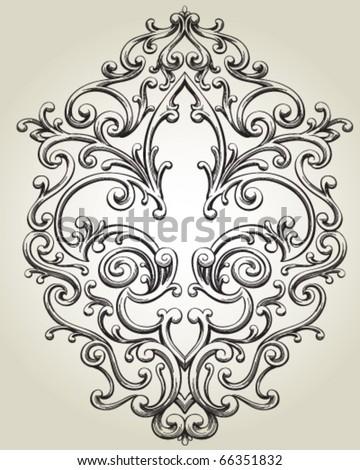 Fleur de Lis Frame - stock vector