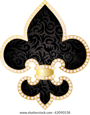 Fleur de lis illustration - stock vector