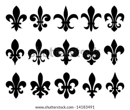 fleurs-de-lis (lily flowers) - stock vector