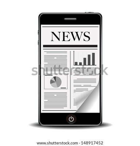 flick newspaper with smart phone