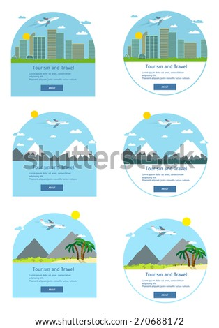 Flight from city to south - stock vector