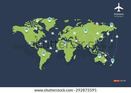 Flight routes vector eps 10 stock vector 292873595 shutterstock flight routes vector eps 10 gumiabroncs Gallery