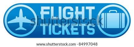flight tickets - stock vector