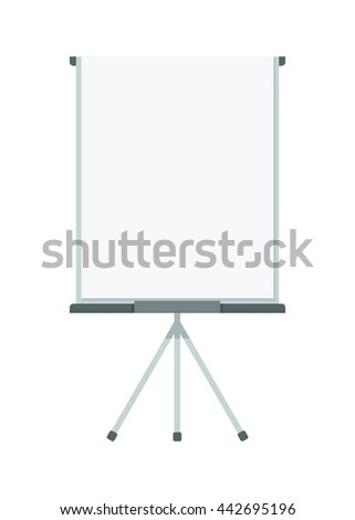 Flip chart for presentation. Cartoon flat vector illustration. Objects isolated on a white background. - stock vector