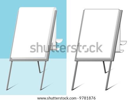 Flip-chart - vector - stock vector