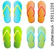 flip flops - vector illustration - stock vector