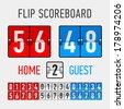 Flip Scoreboard. Vector. - stock vector
