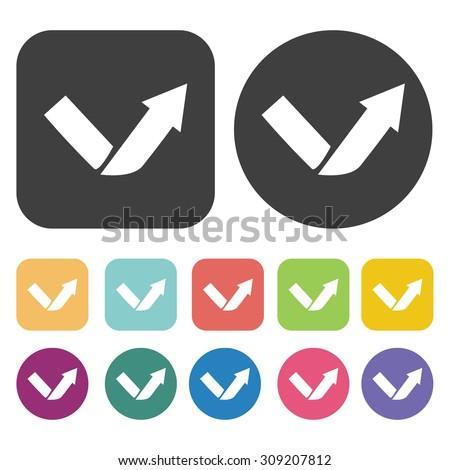 Flipped arrow icons set. Vector Illustration eps10 - stock vector