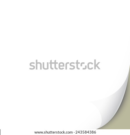 Flipped page - vector illustration - stock vector