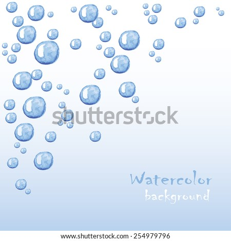 Floating bubbles. Beautiful vector background for your design - stock vector
