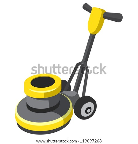 Floor Buffer Polisher Tile Carpet Vector Stock