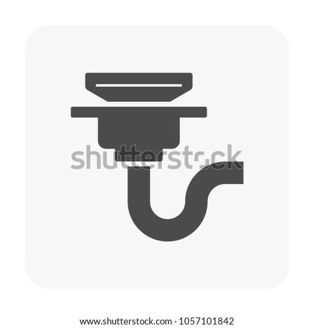 Floor Drain Drainage Equipment Icon On Stock Vector 1057101842