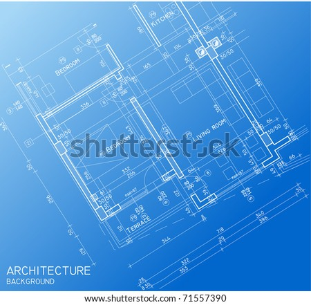 Floor plan blueprint - stock vector