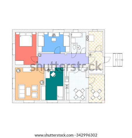 2d stock photos royalty free images vectors shutterstock for Apartment 2d plans