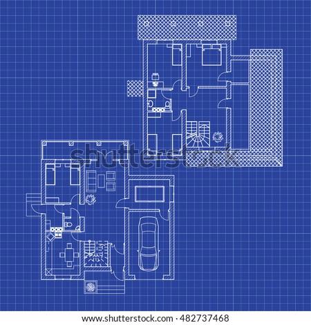 Floor plans modern apartment vector interior stock vector floor plans of a modern apartment vector interior design architectural blueprint malvernweather Gallery