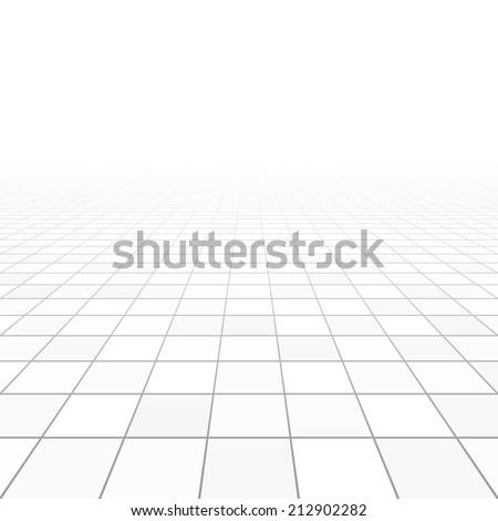 Floor tiles perspective. Vector. - stock vector