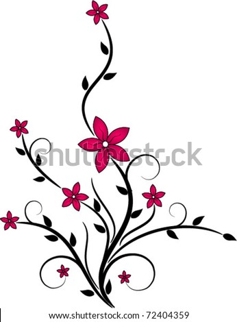 floral - stock vector