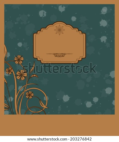 floral abstract background - stock vector