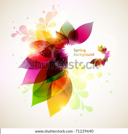 Floral  abstract background. - stock vector