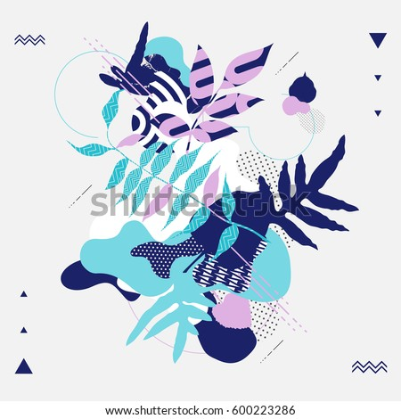Floral abstract composition. Vector background