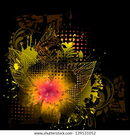 floral abstraction on a dark background