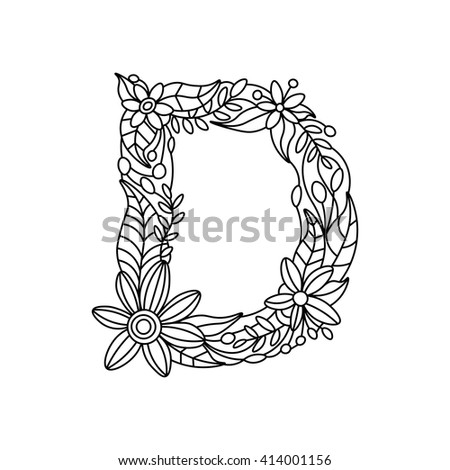 Floral Letters Coloring : 20 best images about images: flower fairies on pinterest