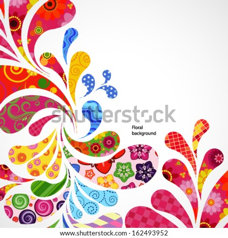 Floral and ornamental item background. - stock vector