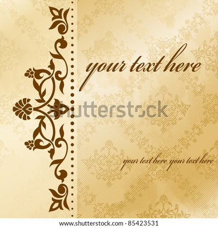 Floral arabesque background in sepia tones (eps10);  jpg version also available - stock vector