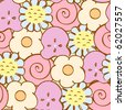 floral baby seamless pattern.Vector illustration - stock vector