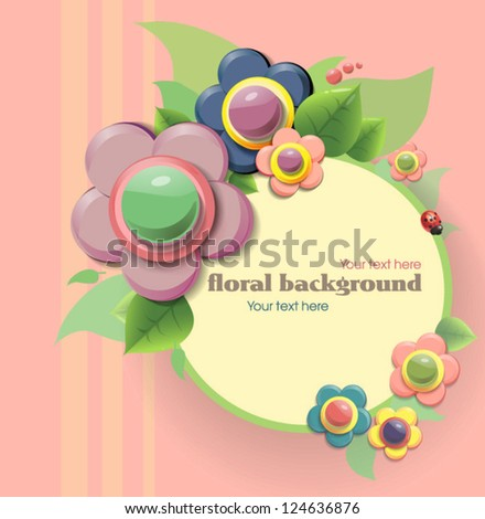 Floral background - stock vector