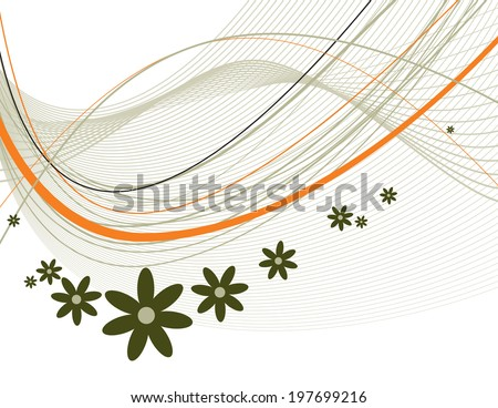 Floral Background. Abstract Vector Illustration. - stock vector