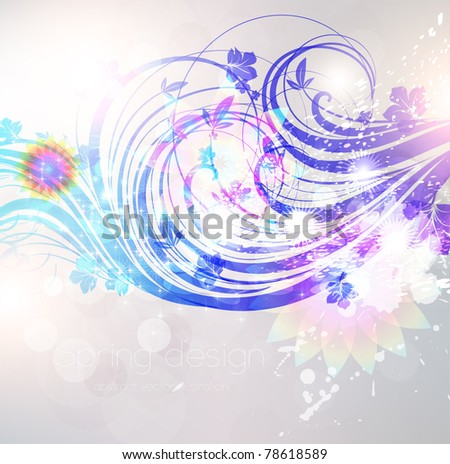 Floral Background design with flower ornament. Vector. eps 10 - stock vector
