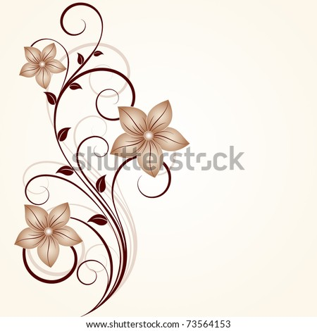 Floral background.Element for design. - stock vector