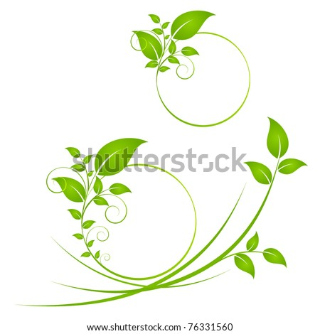 Floral background. Element for design. - stock vector