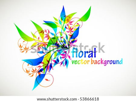 floral background, eps10