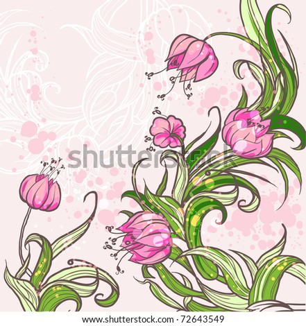 Floral background eps10 - stock vector