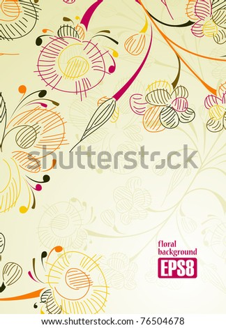 floral background, eps8 - stock vector