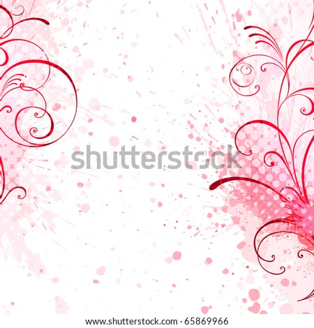 floral background, EPS 10, vector, floral style - stock vector