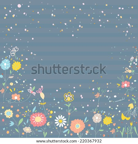 Floral background for card or invitation - vintage design