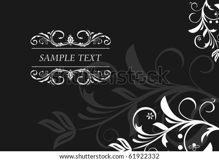 Floral background for design card. vector - stock vector