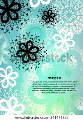 Floral Background for Text